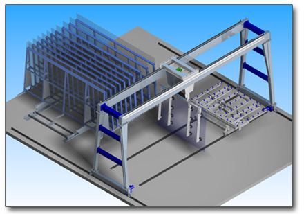 Automatic Storage e Handling Systems of glass sheets